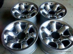Chevy Toyota Nissan Mazda Chrome Wheels Rims 15x8 6 on 5 5 Bolt Aluminum