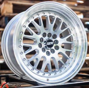 17x9 Str 520 5x100 20 Silver Machine Face Wheel Fit Scion TC XD Fr s 2013 Rims