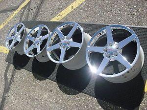 C6 2012 2013 Corvette Factoy Original GM Chrome Wheels Rims with Center Caps
