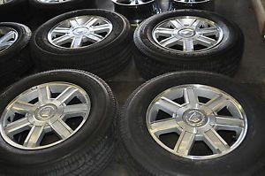 "2007 2013 8"" Cadillac Escalade Wheels 265 65 18 Tires Factory Wheels"
