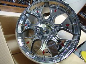 "22"" XPower Chrome Wheel Rims Tires Fit Chevy Ford Cadillac GMC Nissan Lincoln"