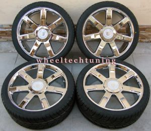"""24"""" Cadillac Escalade Wheel Tire Package New"""