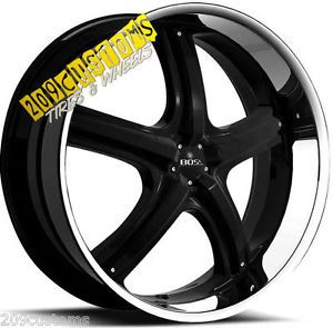 "22"" inch Boss Wheels 333 Black Wheels Tires Rims 5x115 Dodge Charger 2011 2012"