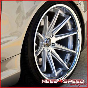 "20"" Infiniti M35 M45 Rohana RC10 Concave Silver Staggered Wheels Rims"