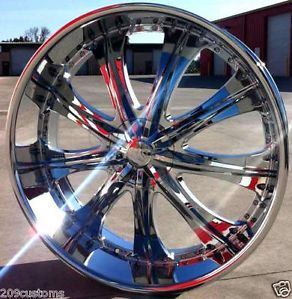 """4 24"""" inch Rims Wheels Tires RSW33 5x115 Charger Challenger Chrysler 300"""