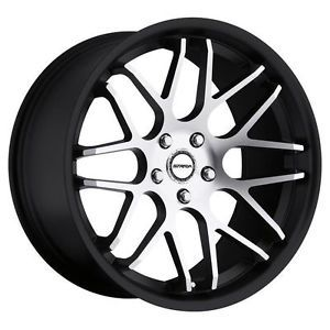 "20"" inch 5x115 Black Machined Wheels Rims 5 Lug rwd 300 Dodge Magnum Charger"