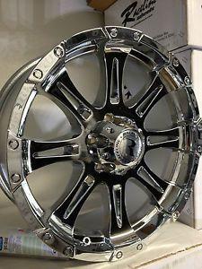20 inch Chrome Raceline Raptor 983 Wheels Rims Ford F150 Expedition 6x135 20x9