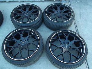 """19"""" Black Wheels Tires Rims 5x108 Focus Jaguar x Type Volvo C30 C70 S60 S80 V50"""