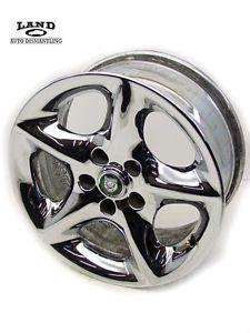 "Jaguar OEM Factory Stock Chrome Rim Wheel 17""x8 MJD6116AB MJD6116AA 8JX17CHX31"