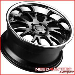 "20"" Lexus LS400 LS Stance ST1 Black Staggered Wheels Rims"