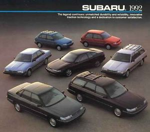 1992 Subaru Legacy Factory Service Repair Manual Parts List Genuine FSM