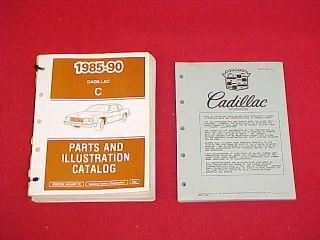 1985 1986 1987 1988 1989 1990 Cadillac Fleetwood DeVille Parts Book Catalog