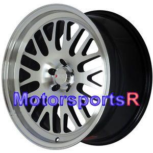 18 18x8 5 XXR 531 Machine Black Wheels Rims Single Drilled 5x100 13 Subaru BRZ