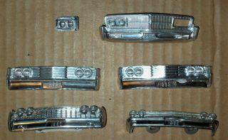 Vintage Model Car Dated Front Bumpers Chrysler Comet Parts Repair Junkyard Lot