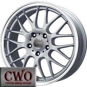 17 Silver MB Mesh x Wheels Rims 5x100 5 Lug WRX Impreza Subaru XD Jetta Golf TC