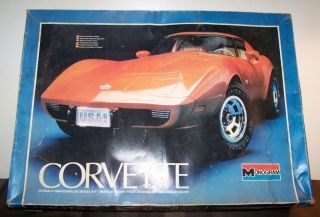 Corvette for Parts…C 1978 Monogram 2603 1 8 Scale Plastic Model Kit