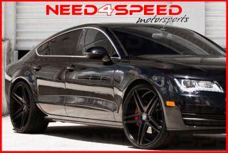 """22"""" XO Caracas Matte Black Concave Wheels Rims Fits BMW E70 X5"""