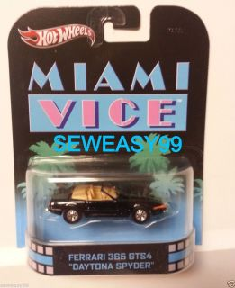 Hot Wheels Retro Miami Vice Ferrari 365GTS4 Daytona Spyder 1 64th Scale Diecast