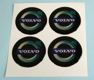 Volvo 4 x 60mm Wheel Center Vinyl Logo Emblem Silicone Sticker Decal