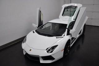 2013 Lamborghini Aventador E Gear Nav Bianco Isis Nero Ade Lthr Only 500 Miles