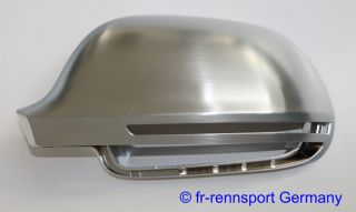 Audi Chrome Mirror Covers A4 S4 RS4 B8 08 09 Sedan Avant Alu Matt Alloy Cap