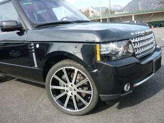 "22"" inch Land Rover Range Rover HSE 2012 Sport Black Machined Wheels Rims New"