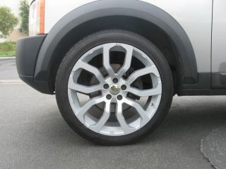 """Land Range Rover 22"""" Wheels Rims Tires Package New Silver MAR550 Supercharged"""