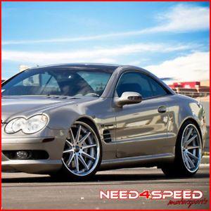 """20"""" Mercedes Benz W212 E350 E550 Sedan Rohana RC10 Concave Silver Wheels Rims"""