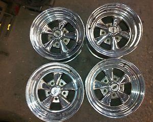 4 15x8 Cragar 5 Star Chrome Wheels Rims 5x5 5x127 Chevy Jeep 1500 15 inch GMC
