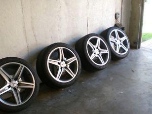 """Mercedes E63 AMG Wheels Tires Rims Set 18"""" E Class E500 E350 E55 CLK"""