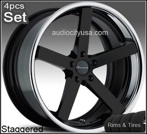 """22"""" for Mercedes Benz Wheels and Tires C CL s E S550 ml Giovanna Mecca Rims"""