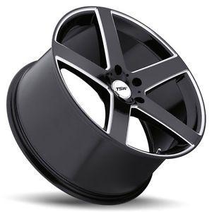 "19"" TSW Rivage Black Wheels Rims Tires Package 5x112 Mercedes Benz C CLK SLK"