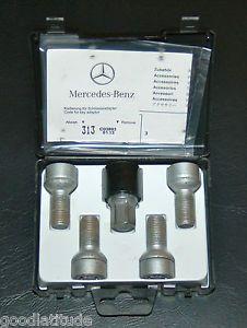 "Mercedes Benz Wheel Locks Part No B66470155 ""E"" Class Models E350 E550 E63"