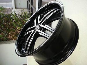 20 inch Sovrano Black M Wheel Rims Tires Fit Toyota Nissan Honda Ford Chevy Kia