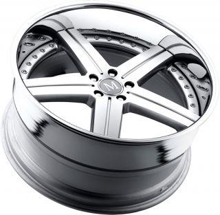 20x10 5 Silver Mandrus Stuttgart Wheels 5x112 41 Audi Lamborghini