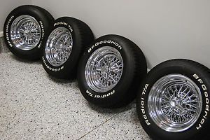"15"" Appliance Fine Wire Wheels Corvette C1 Chevy Ford Buick Hot Rod Knockoffs"