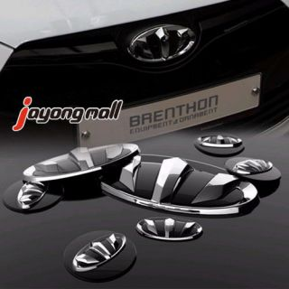 Brenthon Front Rear Wheel Horn Emblem Set 7 Piece Fit Kia Sportage R 2010 2011
