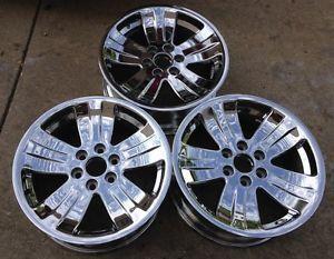 "Nice Set of 3 GM 20"" Chevy Tahoe GMC Denali Yukon Chrome Factory Wheels Rims"