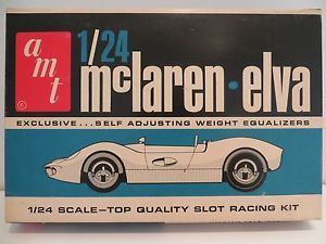RARE Vintage AMT McLaren Elva 1 24 Scale Slot Car Kit 9301 800 Sebring Series