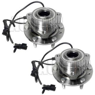 New Pair Front Wheel Hub Bearing Buick Chevrolet GMC Isuzu Oldsmobile Saab SUV