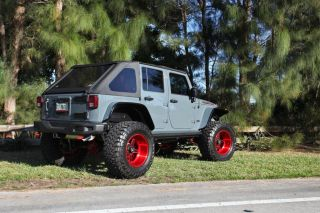 "2013 Wrangler 10th Anni Rubicon Fully Loaded Lifted 4"" on American Force Wheels"