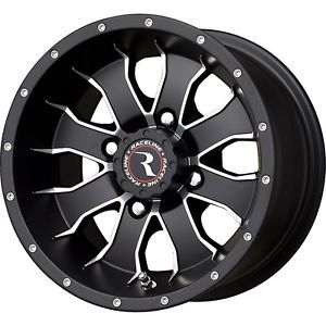 4 New 14X7 4 3 4x156 Raceline ATV WHL Mamba Black Wheels Rims