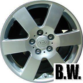 "06 Kia Optima 17"" 5x115mm Silver 6 Spoke Wheel Refinished Factory Rim 74585"
