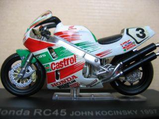 Moto GP Honda RC 45 John Kocinsky 1997 Castrol 1 24 Box