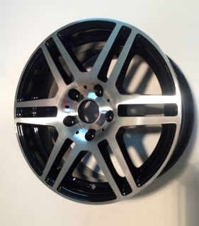 Sport Tuning T7 16x7 5 5x115 GM Car Black Machined Face Wheel Rim 42mm
