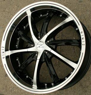 "Zinik Luni Z25 20"" Black Rims Wheels Ford Fusion 06 Up 20 x 8 5 5H 40"