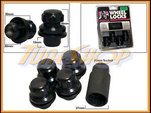 4 Lock Gorilla Mitsubishi Stock Factory Wheels Rims Mag Lug Nut 12x1 5 1 5 Black