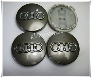4pcs 60mm Wheel Center Caps Central Hub for Audi A3 A4 A6 A8 TT Q5 Q7 Quattro