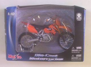 KTM Dirt Bike 525 SX Orange 1 18 Toy Motorcycle Bike N Box