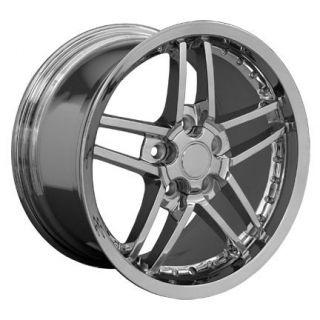 """18"""" 19"""" 8 5 10 Chrome C6 Z06 Deep Dish Wheels Rims Fit Corvette"""